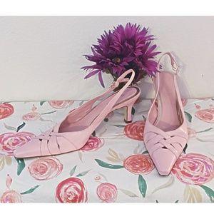 Michelle D Powder Pink Leather Heels